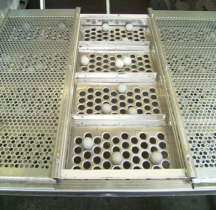 Perforated sheets from RMIG used for screening machine