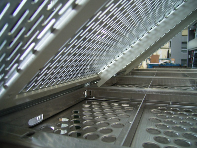 Perforated screens from RMIG used for a screening machine