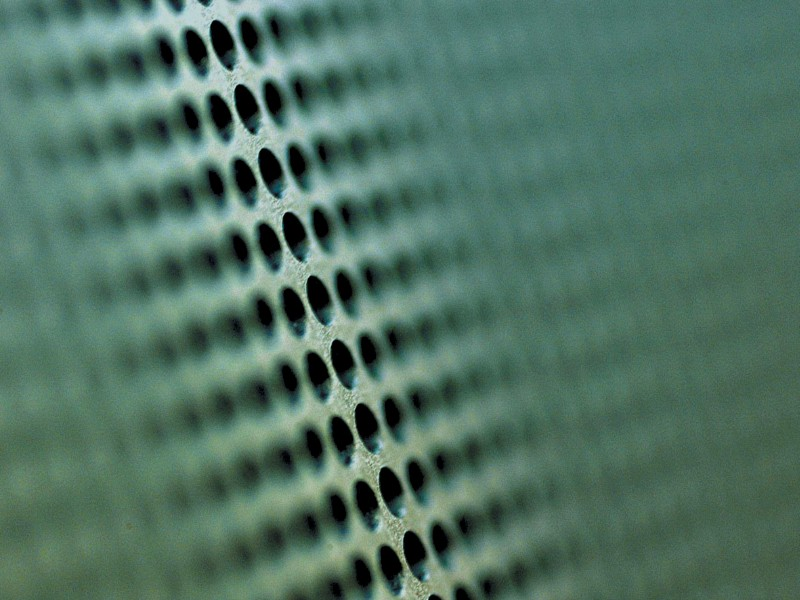 Perforated loudspeaker grille from RMIG
