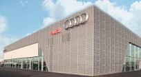 Perforated anodised aluminium from RMIG used for Audi Terminal facade