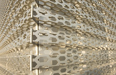 Perforated and anodised aluminium sheets for Audi Terminal facade