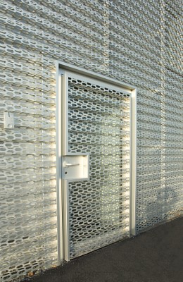 Perforated sheets used for facade for Audi Terminal in Bitterfeld, Germany