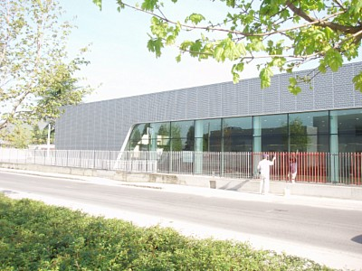 Perforated sheets used for facade for Audi Terminal in Brescia, Italy