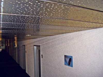 Perforated sheets used for ceiling