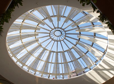 Shopping Centre La Part Dieu's Dome, Lyon, France. RM Pattern: R20U40 Material: Aluminium