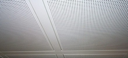 Perforated ceiling in Genoa Airport