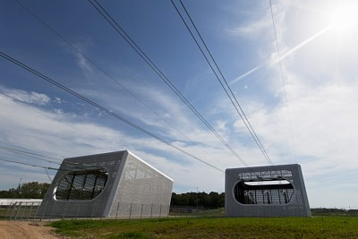 Perforated aluminium sheets help transformer stations fit beautifully into their surroundings