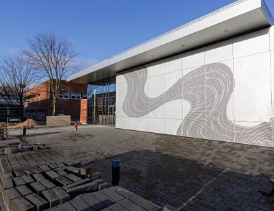 Perforerede plader fra RMIG anvendt til facade