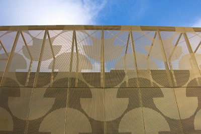 Perforated sheets for facade, Maison du Portugal view from outside