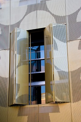 Perforated sheets from RMIG used for facade
