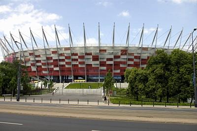 RMIG Strækmetal anvendt som facade på det nationale stadion i Warszawa