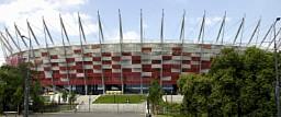 Metal extendido RMIG usado en la Fachada del Estadio Nacional de Varsovia