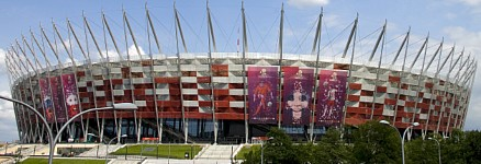 RMIG Expanded Metal used for facade for the National Stadium Warsaw