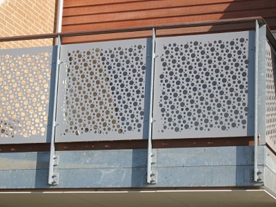 Perforated balcony