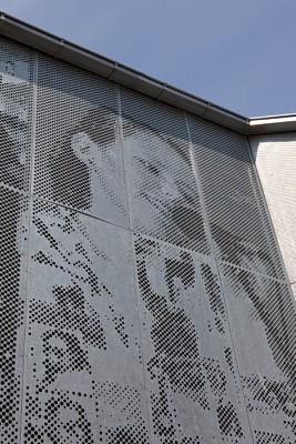 Perforated sheets for facade, Skansevejens skole