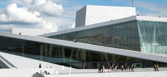 Oslo Opera House - Embossed and indented aluminium