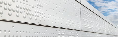 Embossed and anodised aluminium sheets from RMIG used for Oslo Opera House