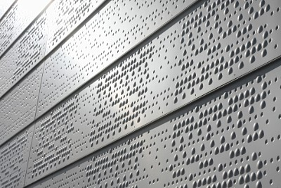 Anodised aluminium used for the facade of Oslo Opera House