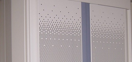 Perforated sheets used in electro cabinets