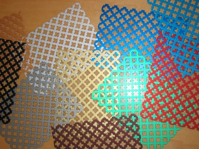 Coloured anodised perforated sheets