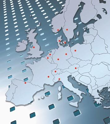 RMIG Standorte in 13 europäischen Ländern