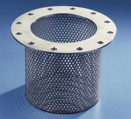 Round hole perforation from RMIG used for water processing sieve
