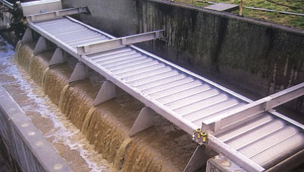 Perforated sheets used for storm guards for sewer overflow