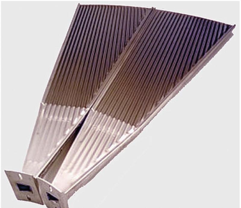 Perforerad plåt använt till separationspaneler