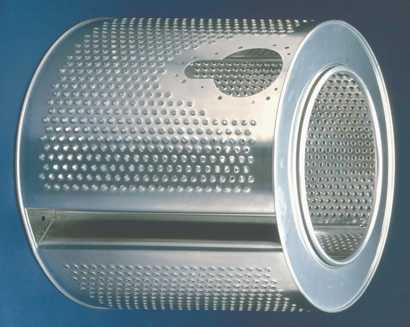 Perforation from RMIG used for drum for washing machine