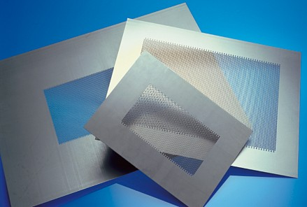 Perforated sheets from RMIG for doors for microwave ovens